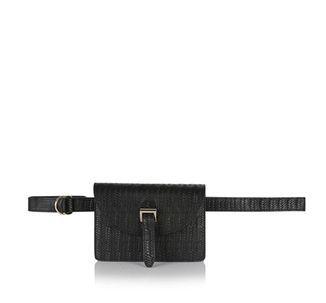 Bum Bag Black Woven