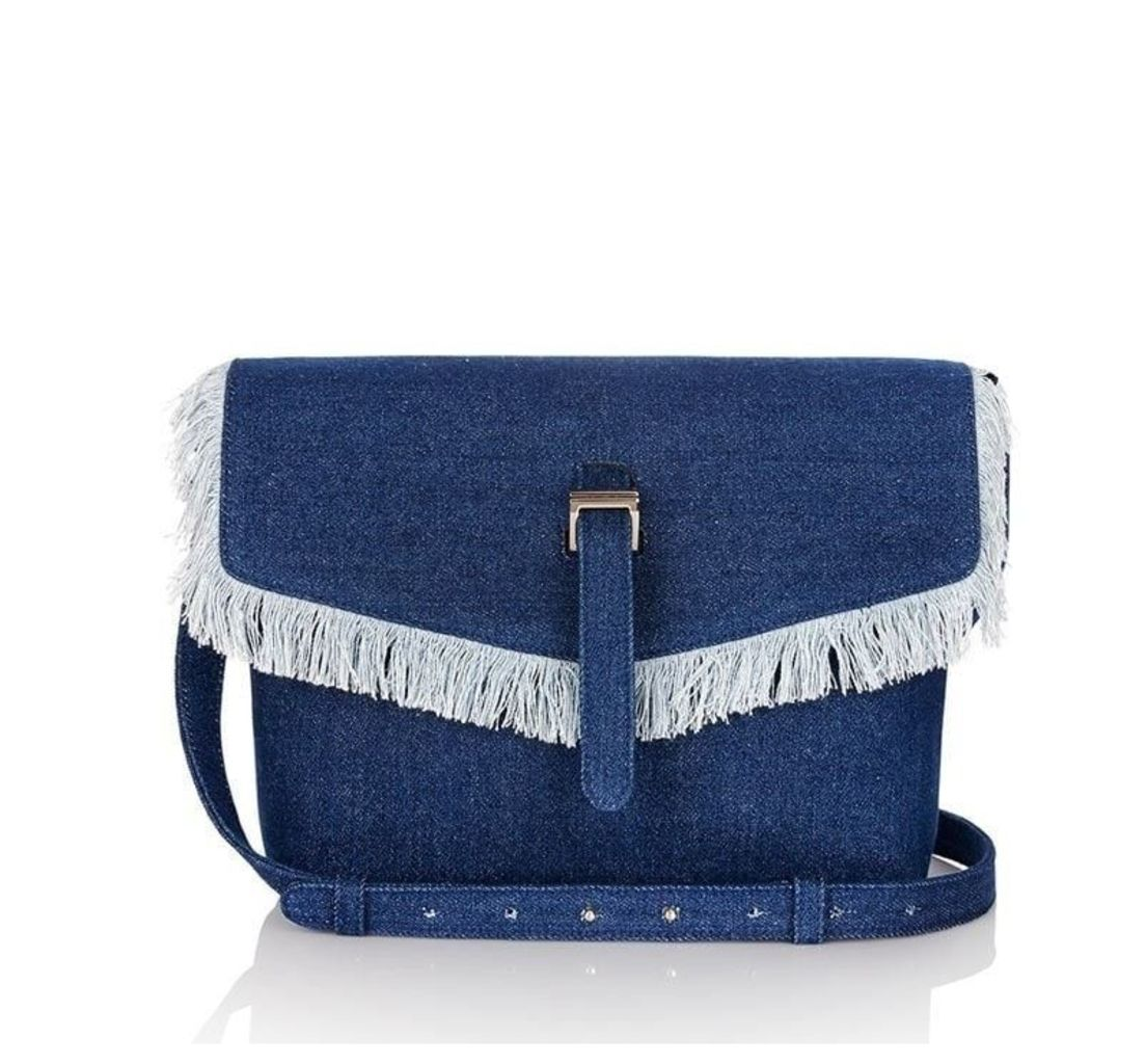 Maisie Medium Cross Body Bag Blue Denim