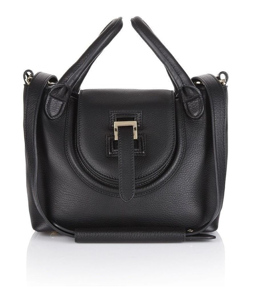 Halo Mini Cross Body Bag Black Reverse Handle