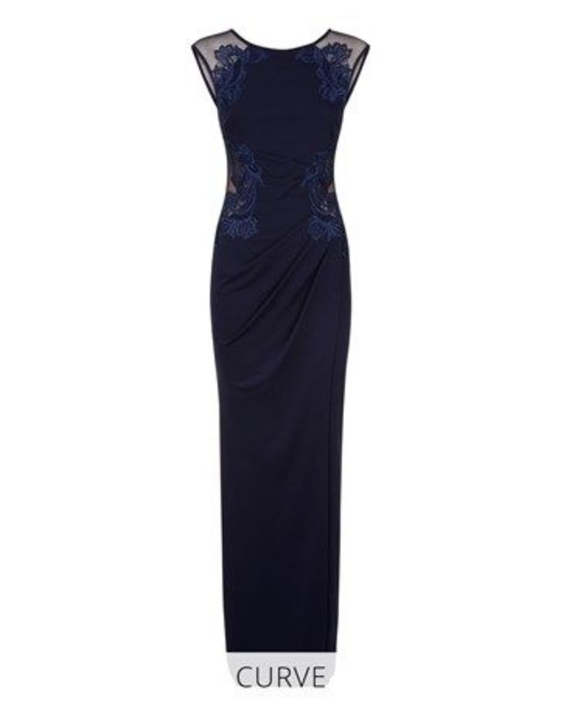 Lipsy Love Michelle Keegan Curve Ruched Placed Artwork Maxi Dress