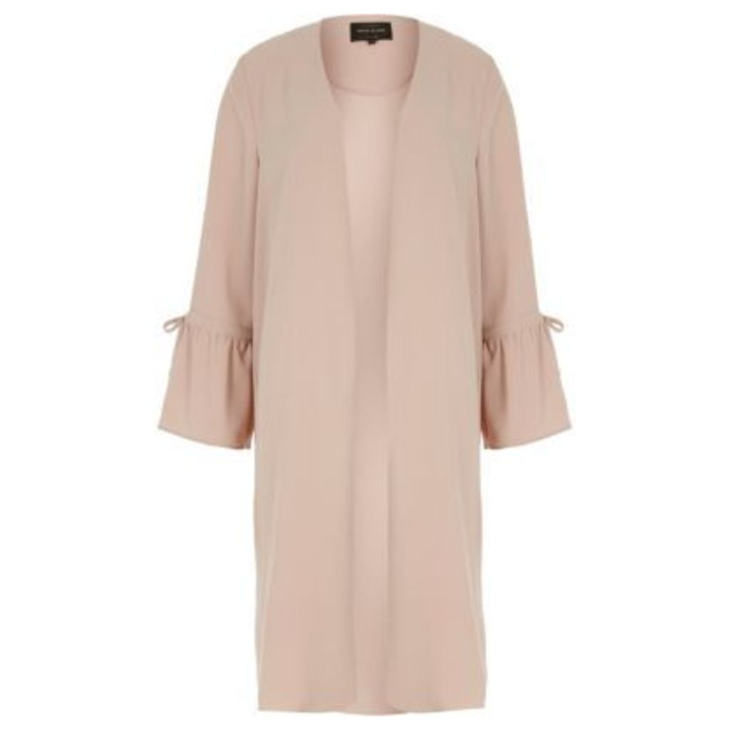 River Island Womens Pink frill cuff duster jacket