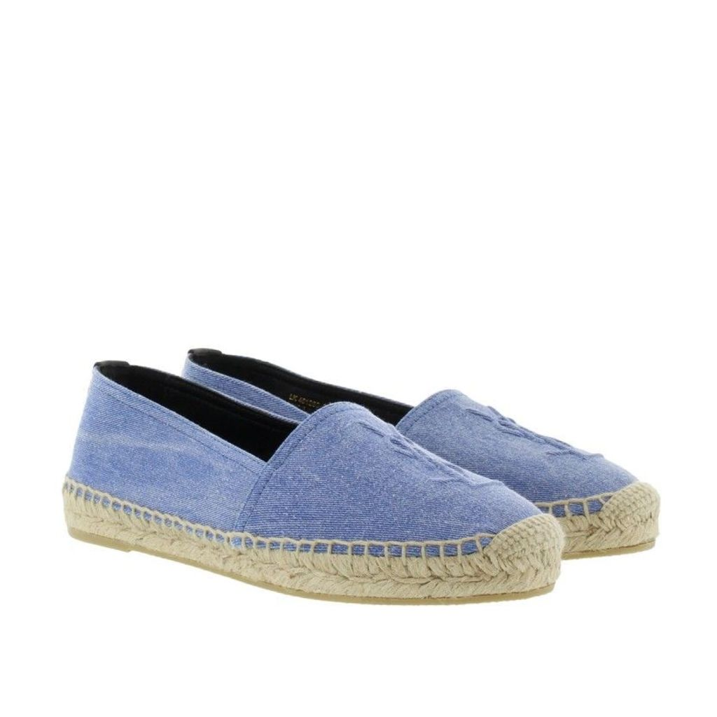 Saint Laurent Espadrilles - Denim Stone Wash Espadrilles Ultramarine - in blue - Espadrilles for ladies
