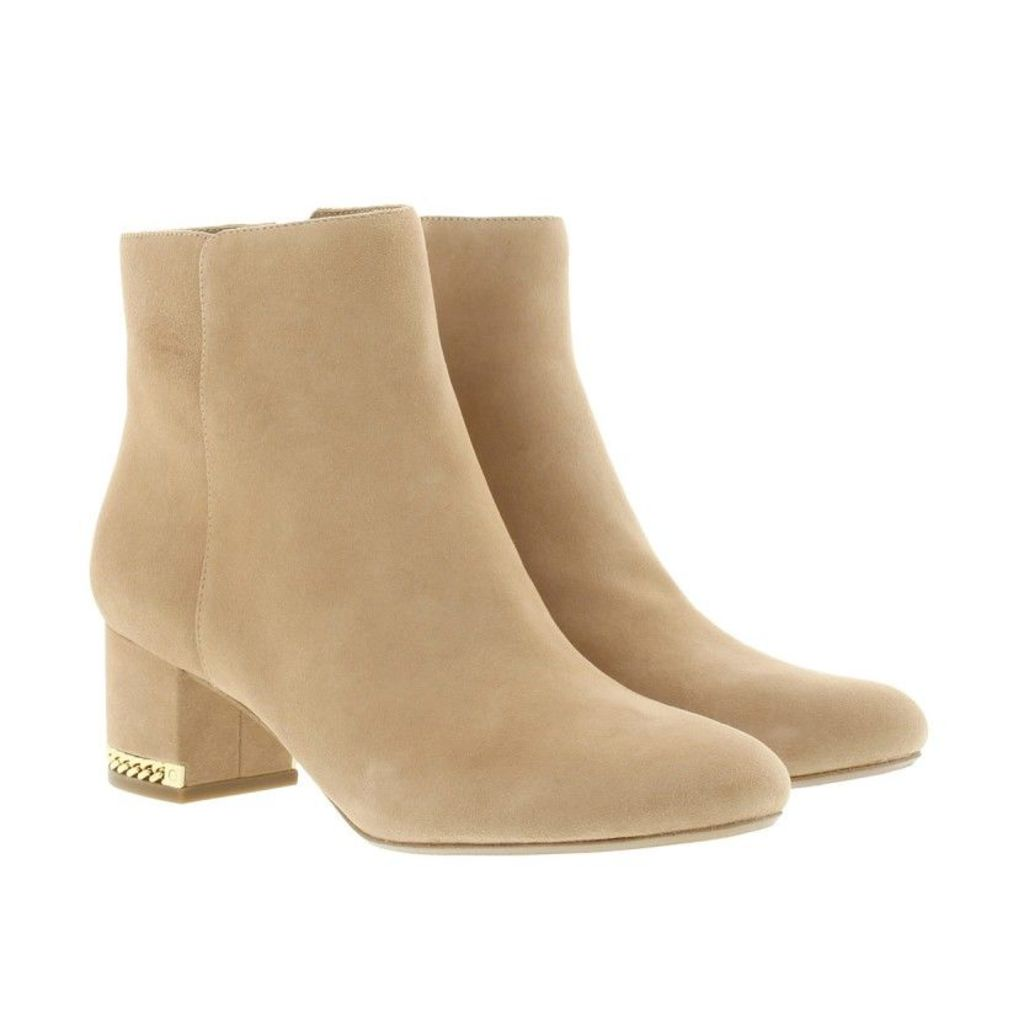 Michael Kors Boots & Booties - Sabrina Mid Bootie Suede Dark Khaki - in purple - Boots & Booties for ladies