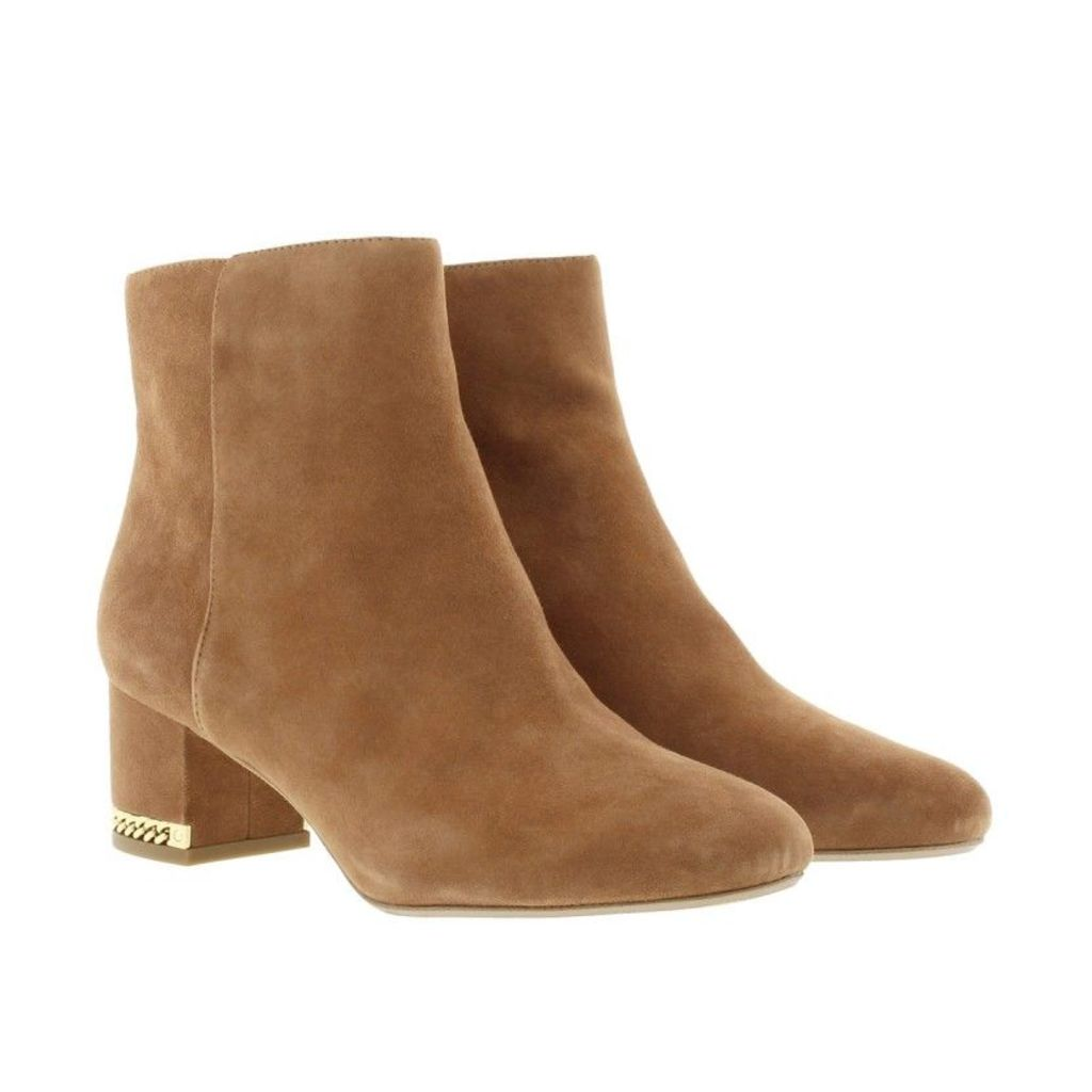 Michael Kors Boots & Booties - Sabrina Mid Bootie Suede Luggage - in cognac - Boots & Booties for ladies
