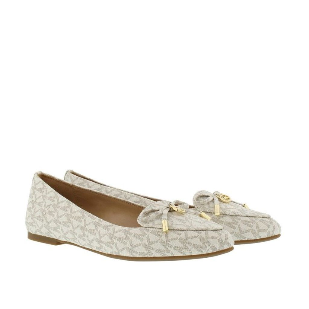 Michael Kors Ballerinas - Nancy Flat Mini MK Ballerinas Vanilla - in gold, white - Ballerinas for ladies