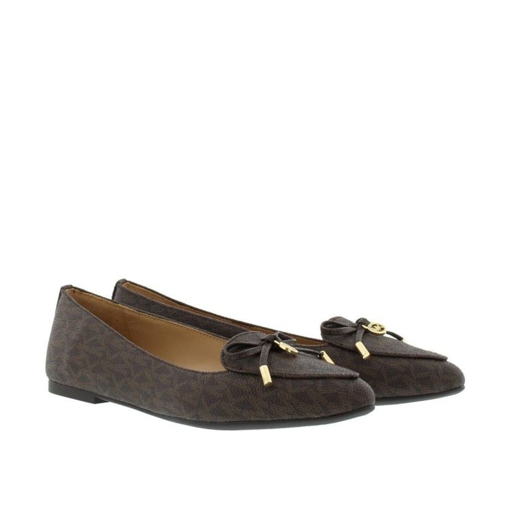Michael Kors Ballerinas - Nancy Flat Mini MK Ballerinas Brown - in brown, gold - Ballerinas for ladies