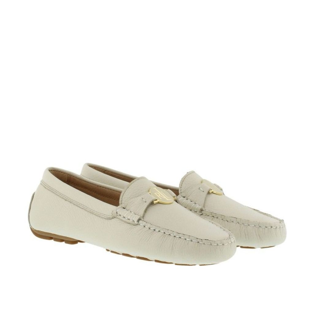 Lauren Ralph Lauren Loafers & Slippers - Carley Leather Loafer Light Ivory - in white - Loafers & Slippers for ladies