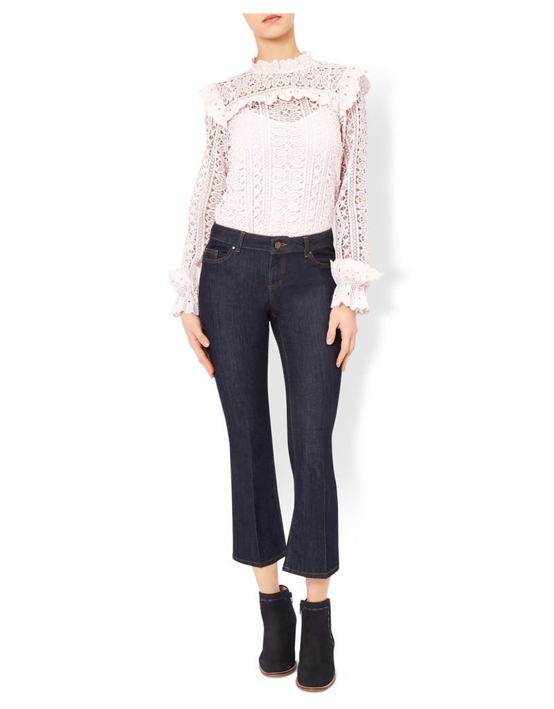 Lacey Victoriana Lace Frill Blouse