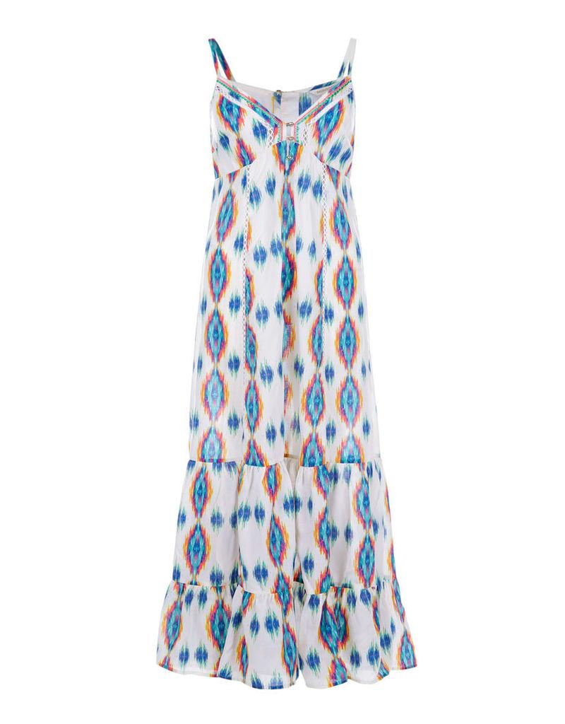 Sandie Ikat Print Maxi Dress