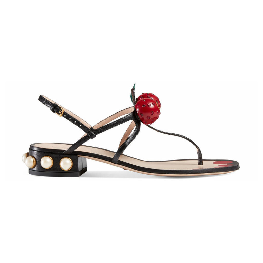 Leather thong sandal