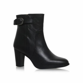 Womens Black Leather Ankle Bootssilver Street, 9 UK