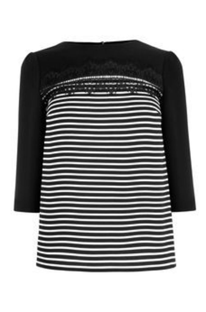 THE STRIPE LACE TOP