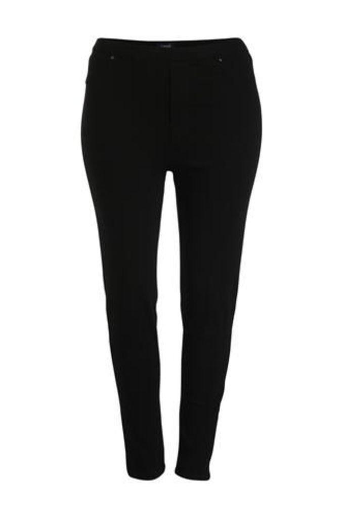 Plus Size Classic Crop Slimfit Trousers
