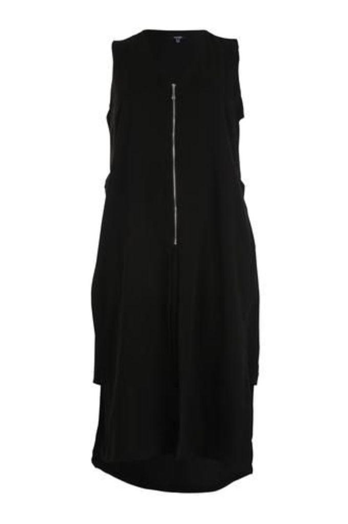 Plus Size Zip Front Shirt Dress