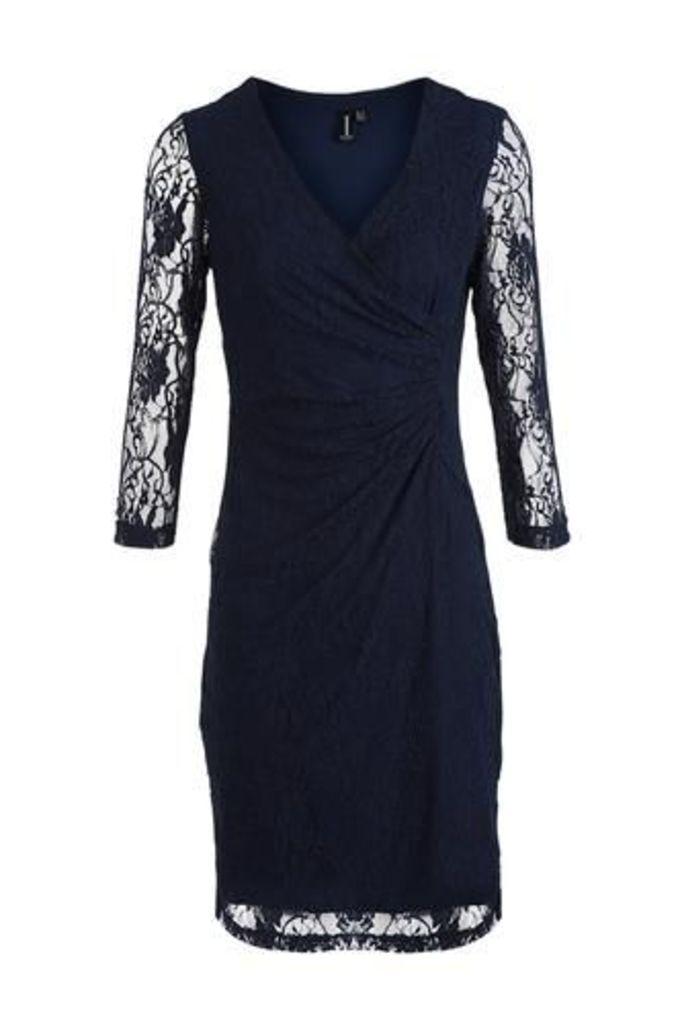 Laced Drape Pin Dress