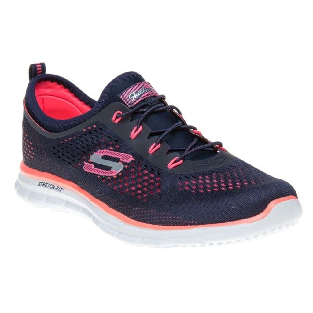 Skechers Glider Harmony Trainers, Navy/Coral