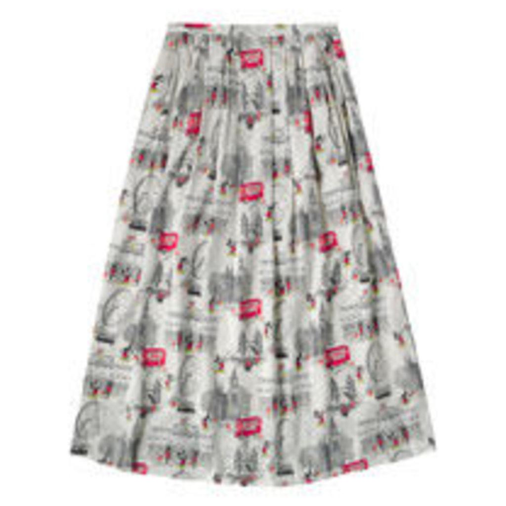 Mickey in London Viscose Skirt