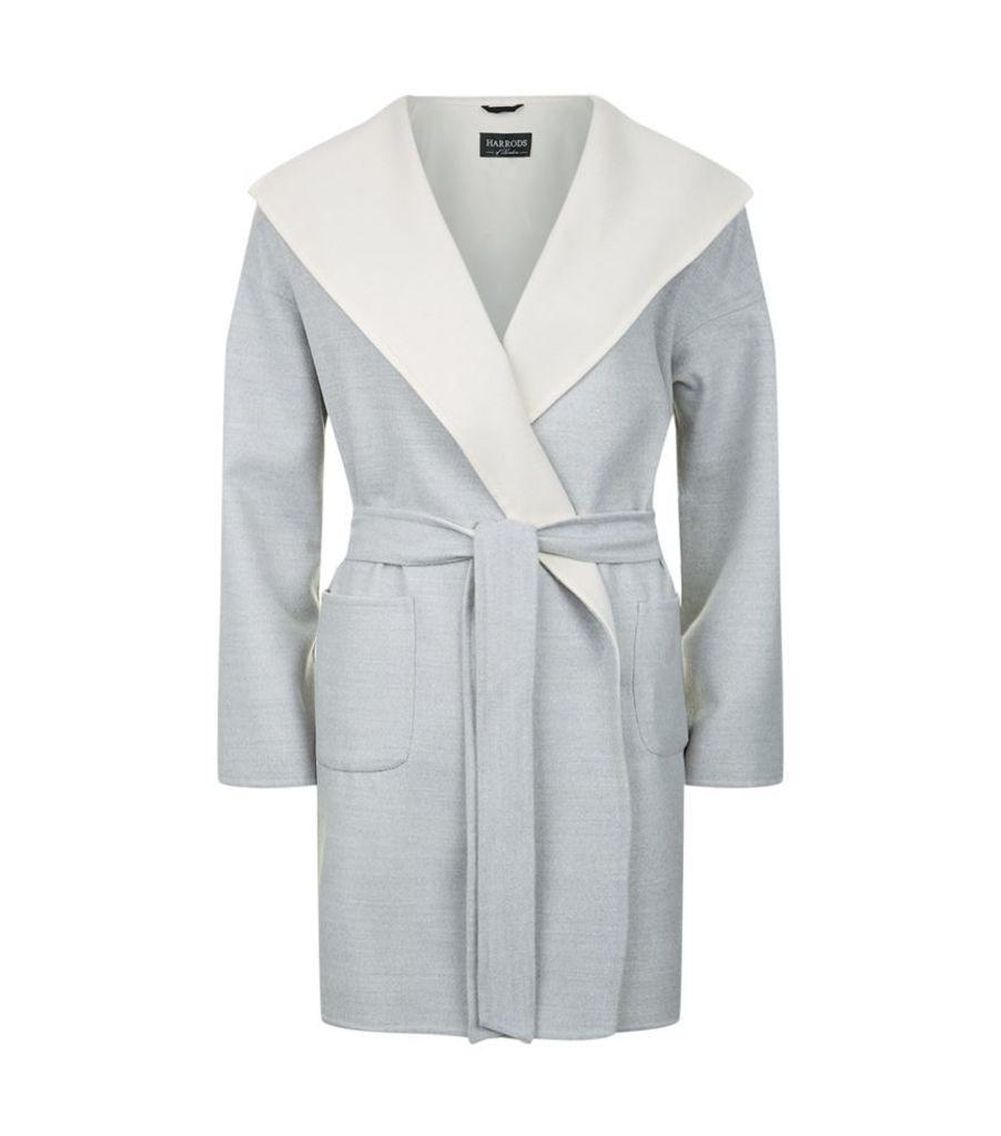 Harrods Of London, Double Face Wrap Coat, Female