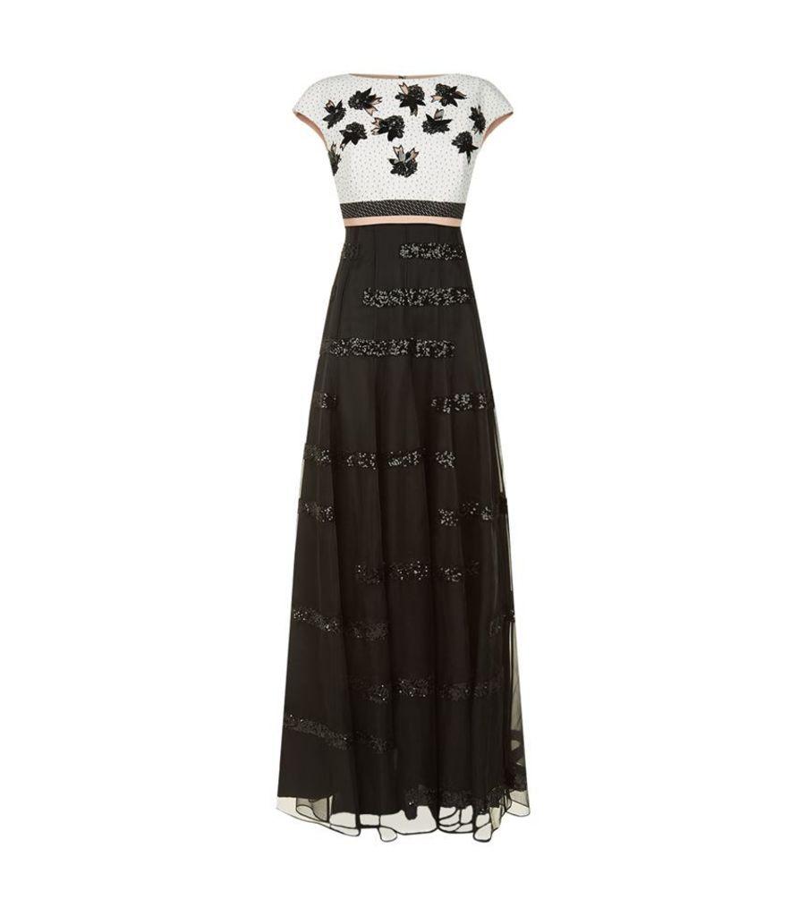 Talbot Runhof, Monlet1 Contrast Bodice Gown, Female