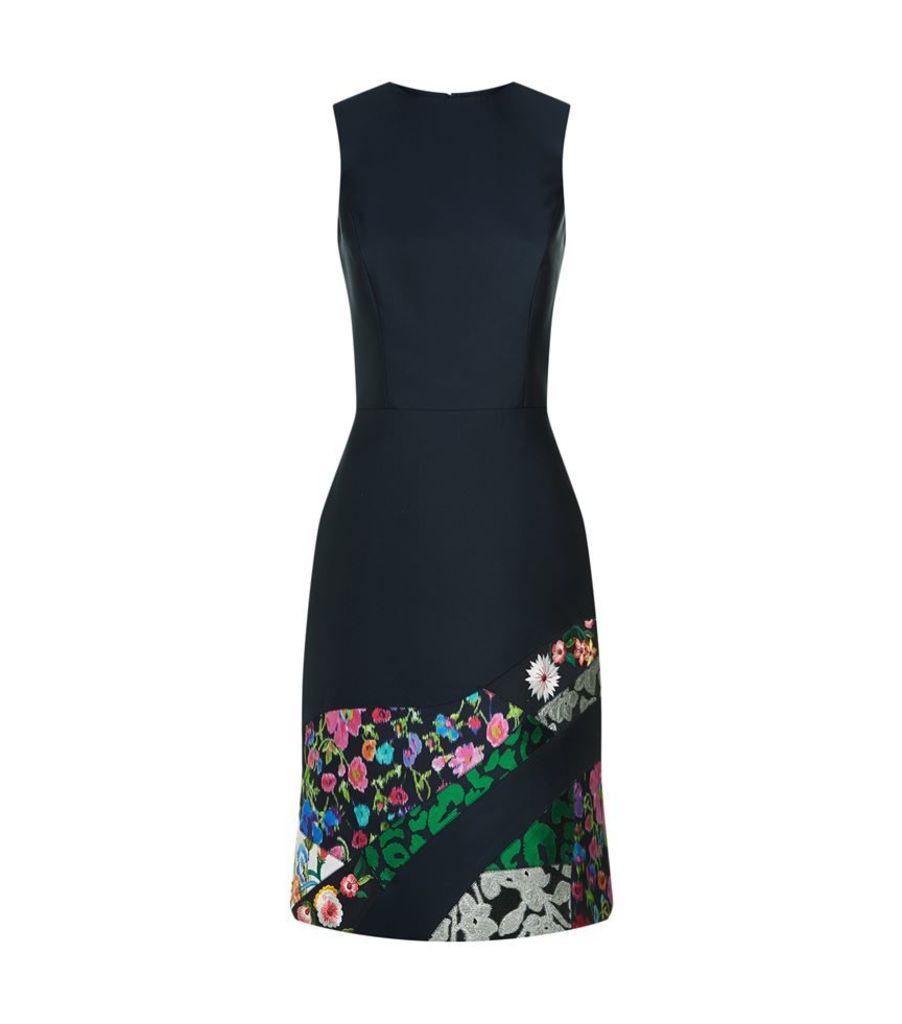 Oscar De La Renta, Jacquard Patchwork Dress, Female