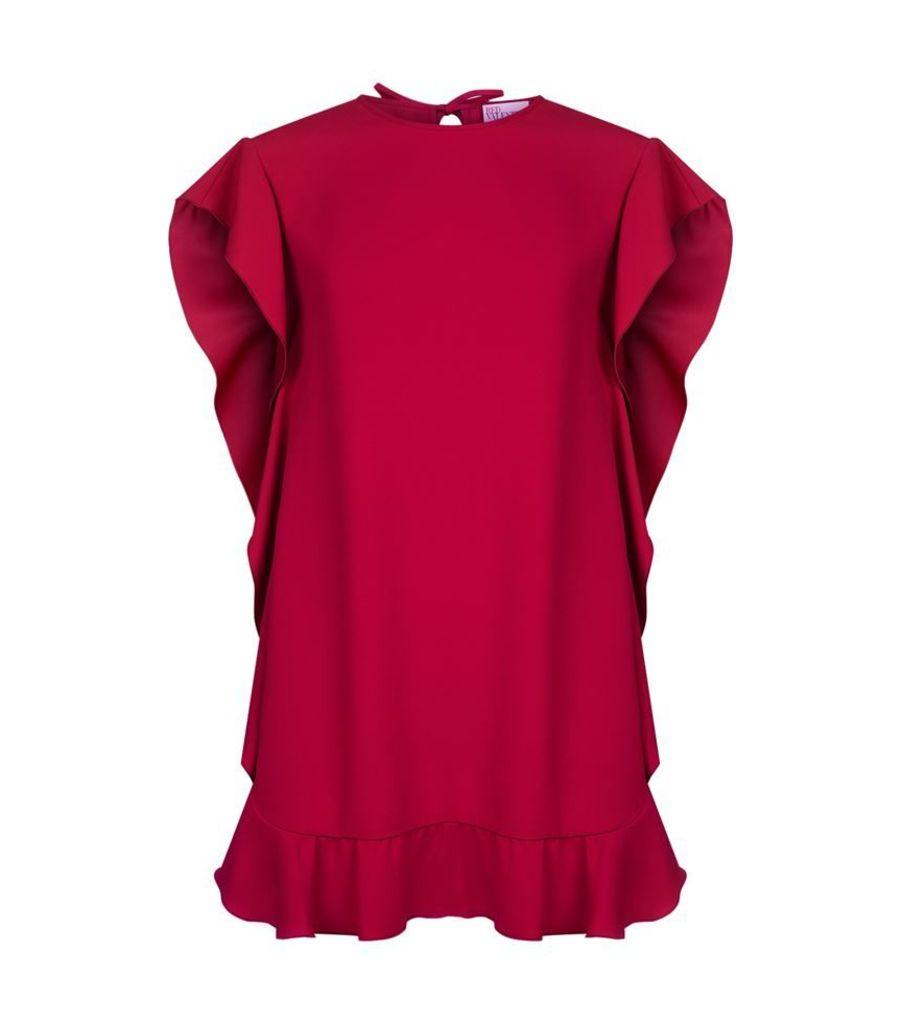 Red Valentino, Ruffled Crepe Dress, Female