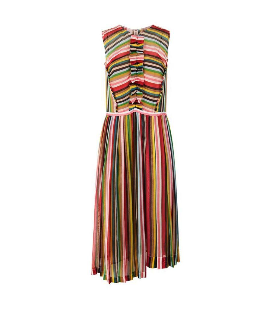 No.21, Striped Sleeveless Silk Dress, Female