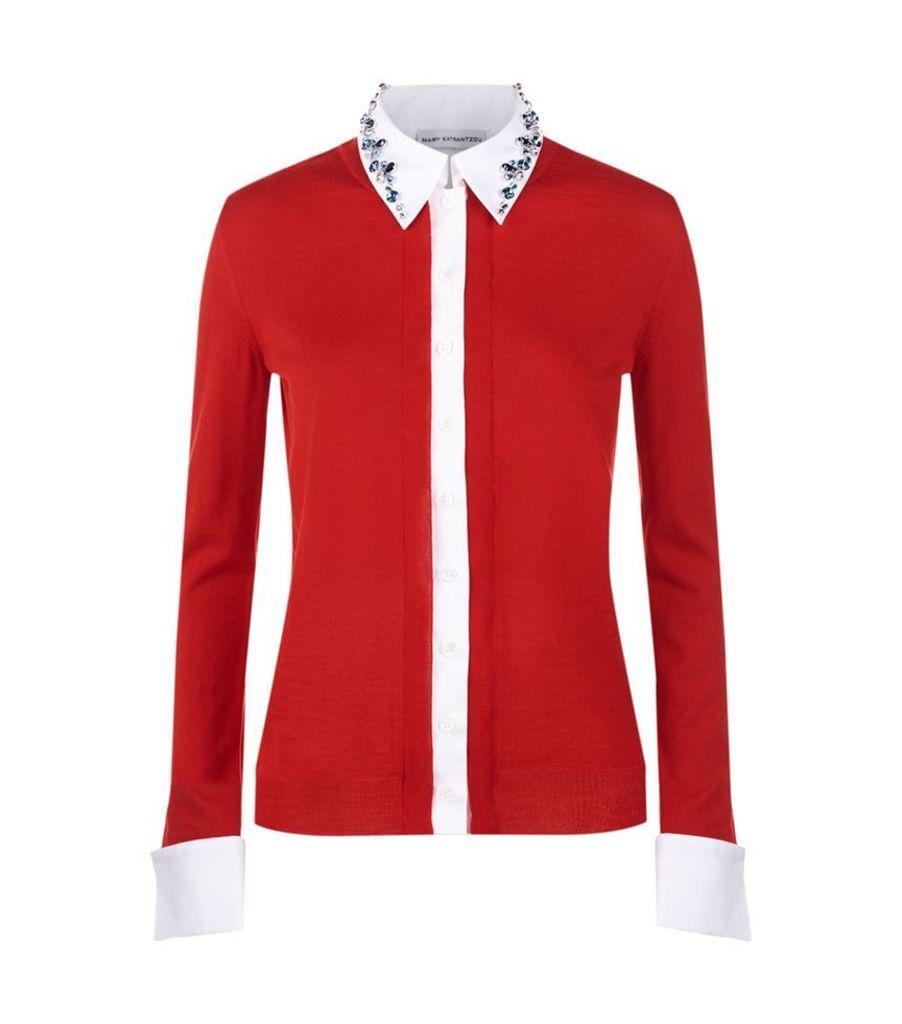 Mary Katrantzou, Bextor Embellished Collar Cardigan, Female