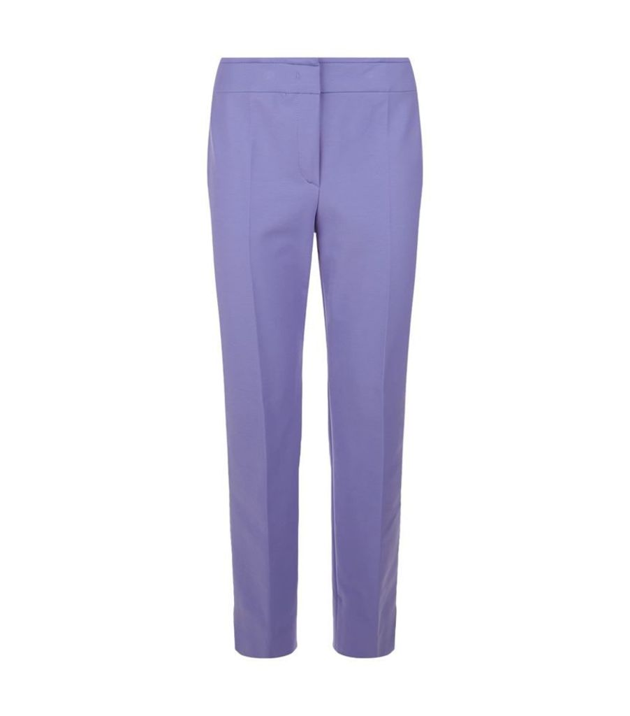 Armani Collezioni, Cropped Straight Leg Trousers, Female