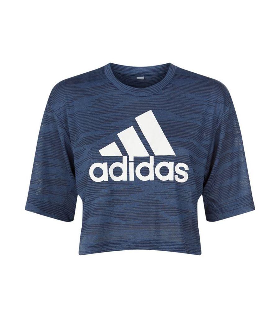 Adidas, Aeroknit Boxy Crop Top, Female