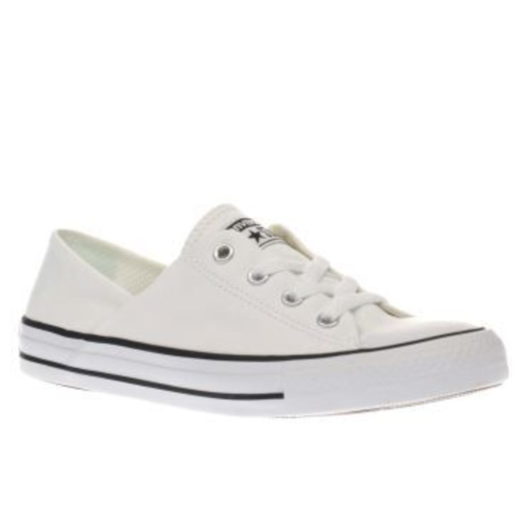 Converse White & Black Coral Canvas Ox Womens Trainers