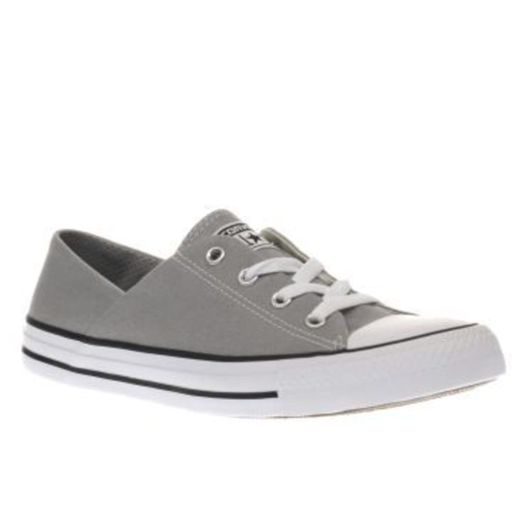 Converse Grey Coral Canvas Ox Womens Trainers