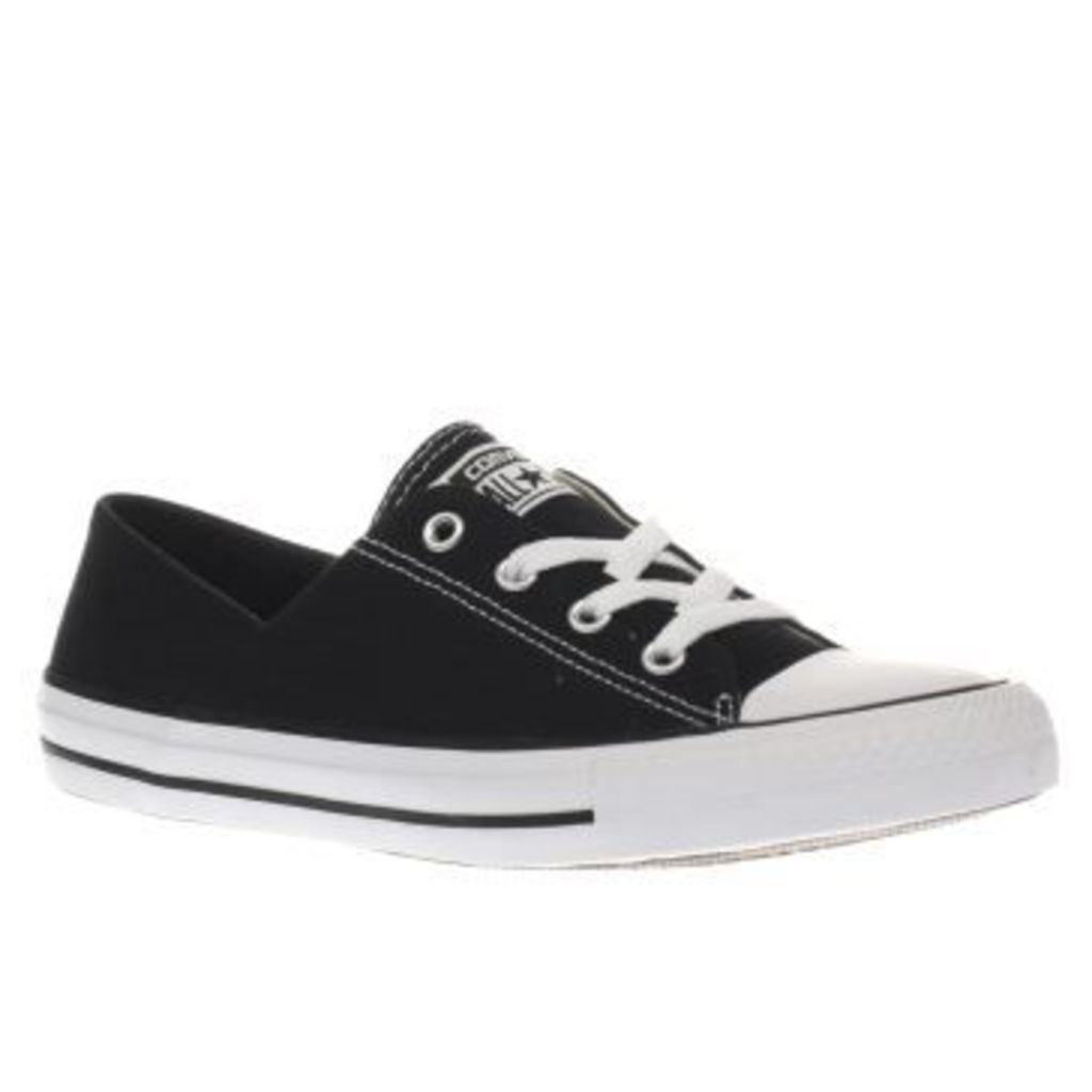 Converse Black & White Coral Canvas Ox Womens Trainers