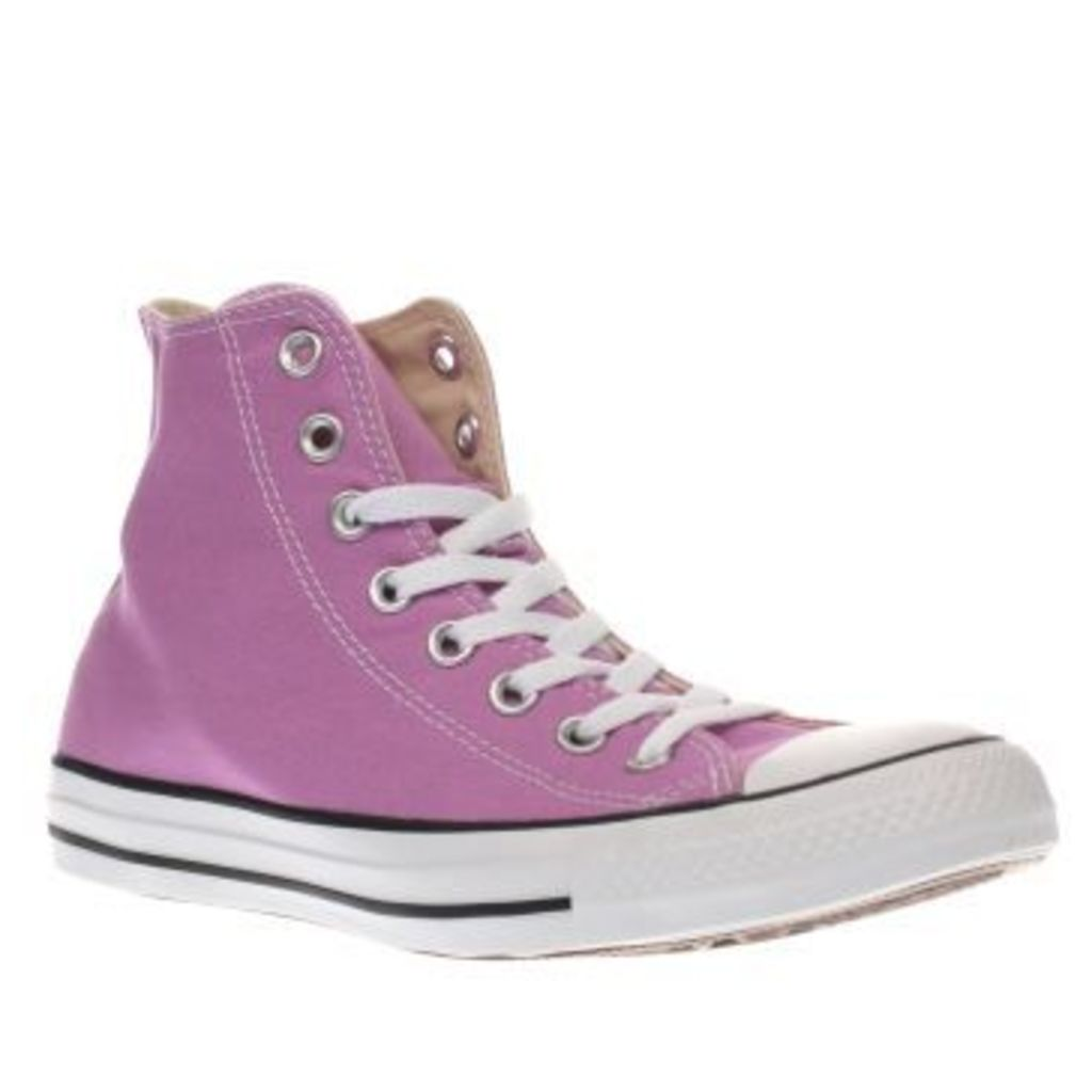 Converse Pink Chuck Taylor Canvas Hi Womens Trainers