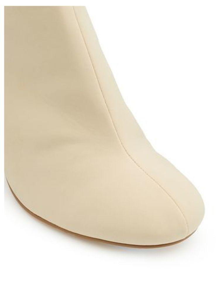 Womens DIVINE Stone Split Heel Boots, Stone