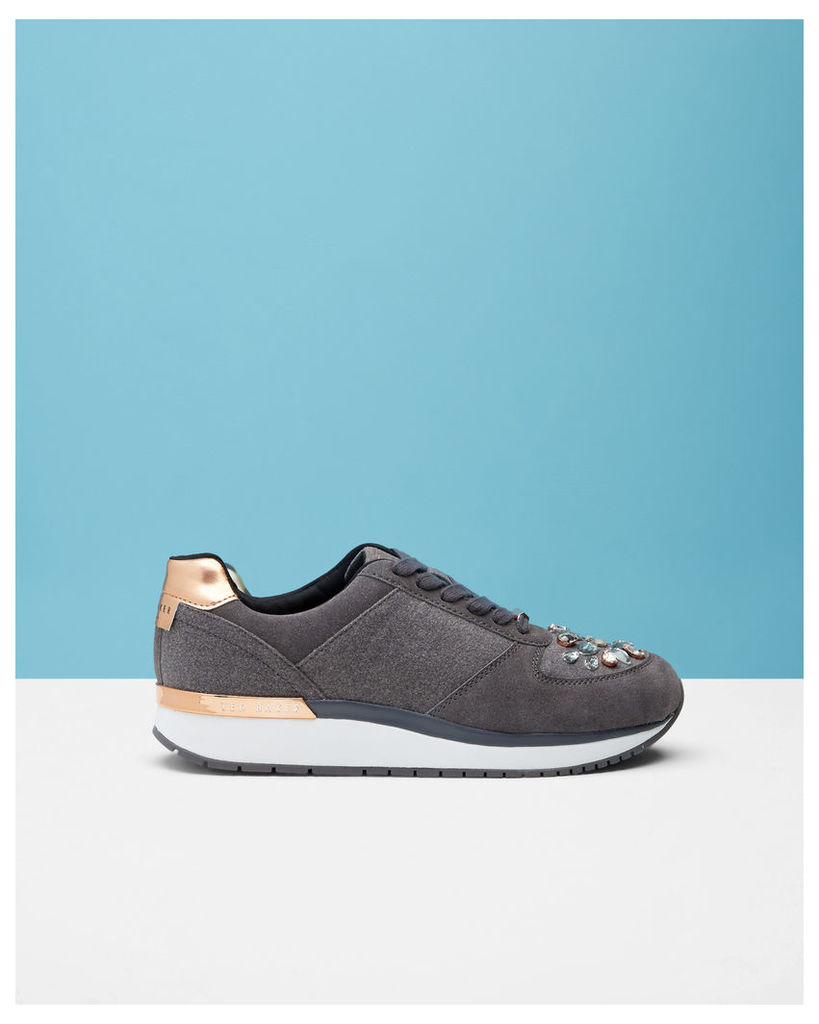 Ted Baker Jewel embellished trainers Grey