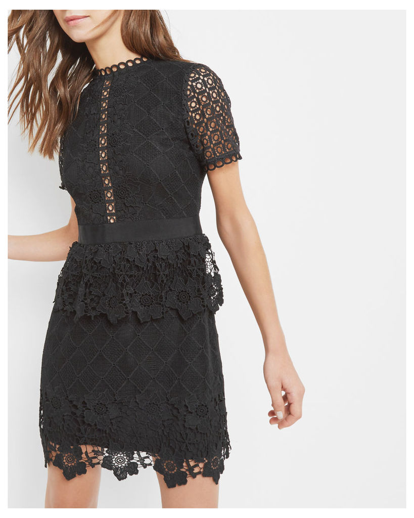 Ted Baker Layered lace dress Black