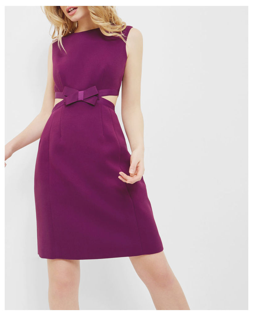 Ted Baker Cut out bow dress Grape