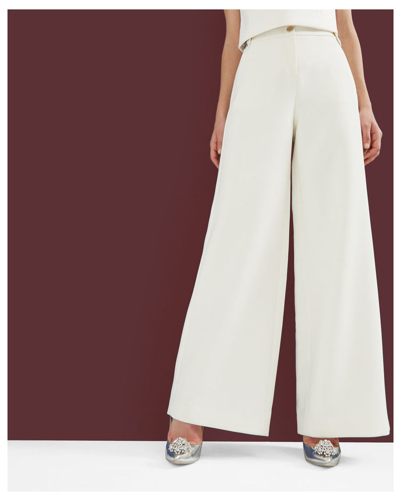 Ted Baker Wide leg trousers White