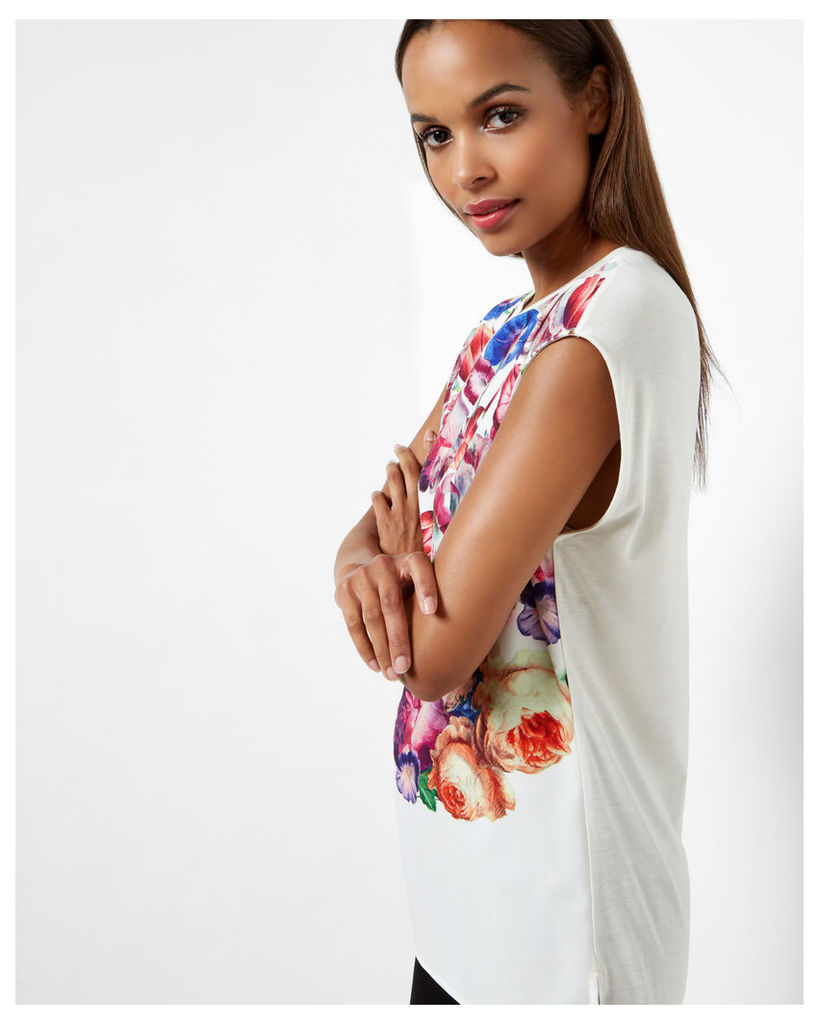 Ted Baker Tapestry Floral T-shirt Pale Yellow