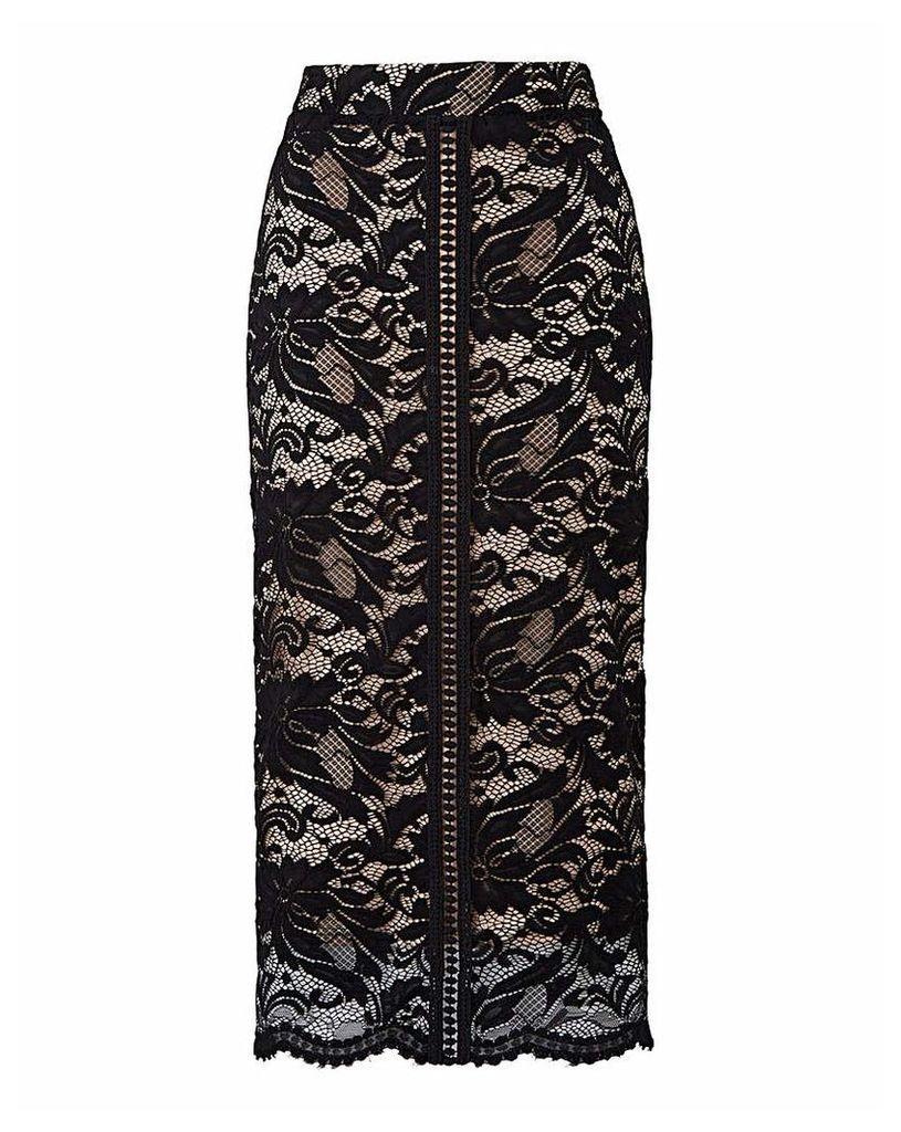 Grazia Lace Pencil Skirt