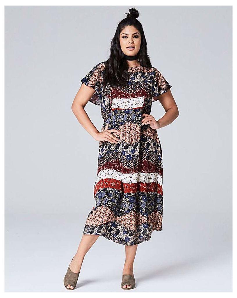 Frill Detail Midi Dress