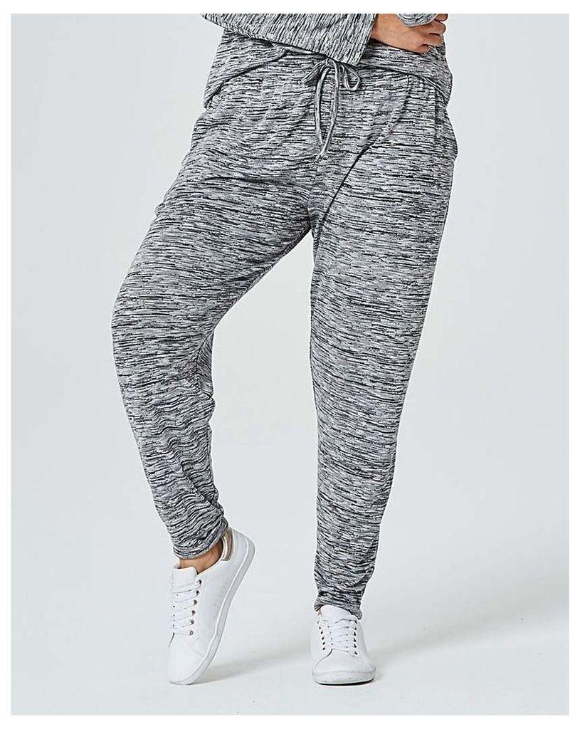 Grey Space Dye Tapered Leg Trouser