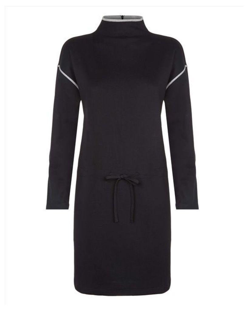 Cotton Jersey Polo Neck Dress