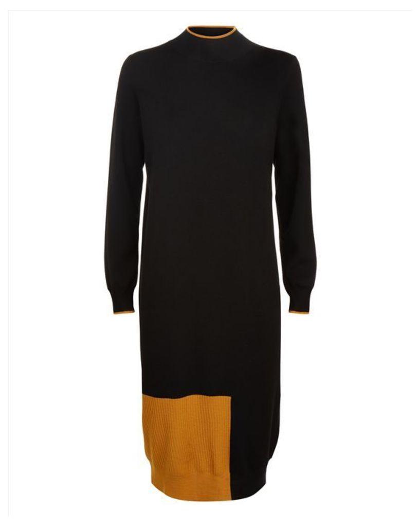 Wool Colour Block Dress