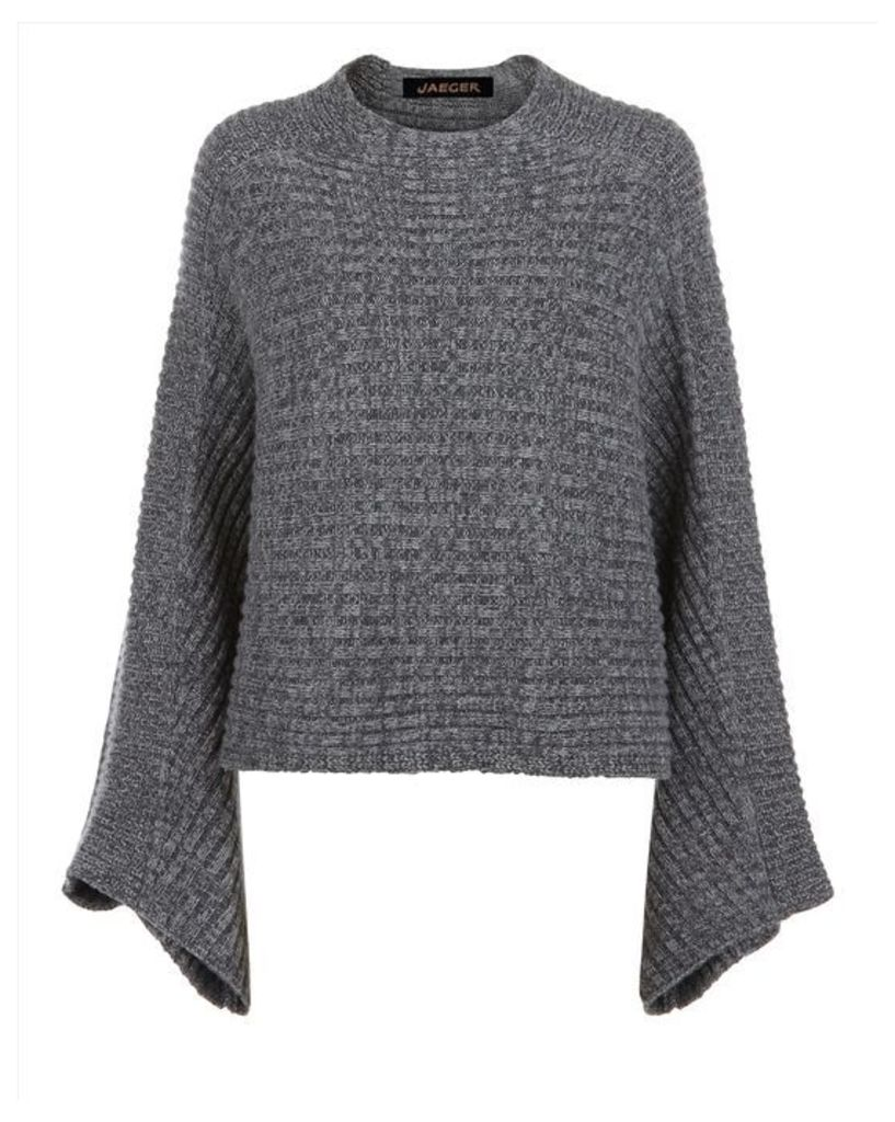 Wool Cashmere Cape Sweater