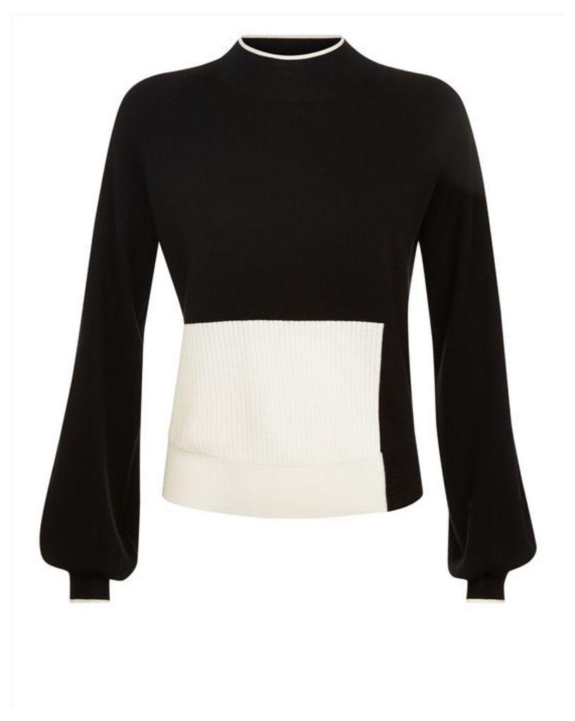 Wool Colour Block Sweater