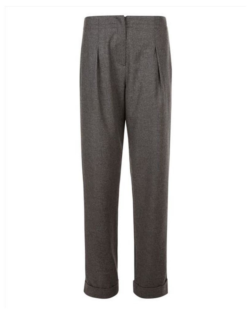 Pleat flannel trouser