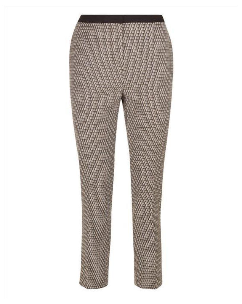 Geometric Print Trousers