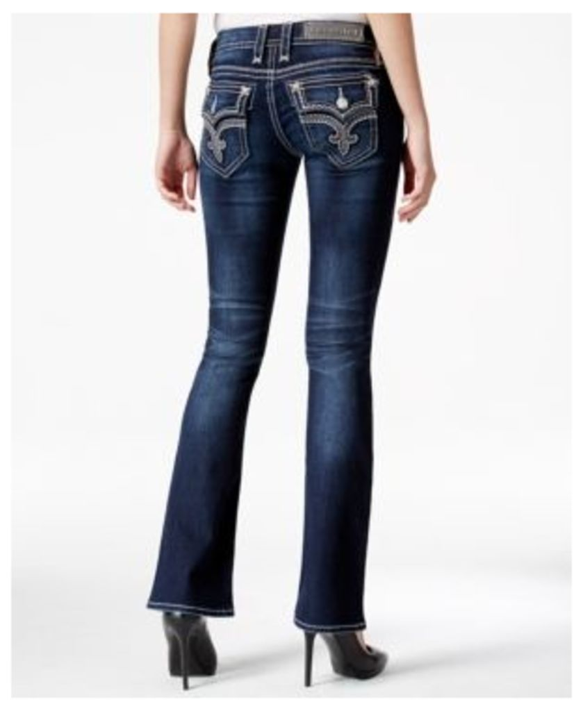 Rock Revival Tibbie Bootcut Dark Blue Wash Jeans, Only at Macy's