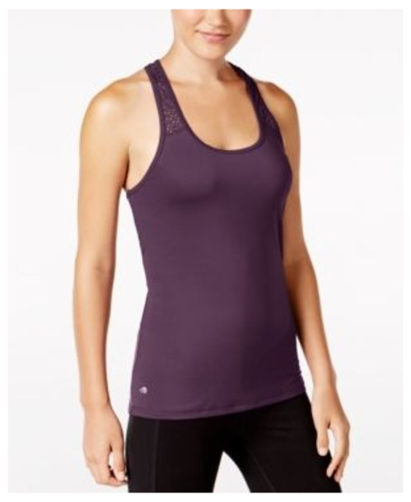 Ideology Perforated Performance Racerback Tank Top, Only at Macy's